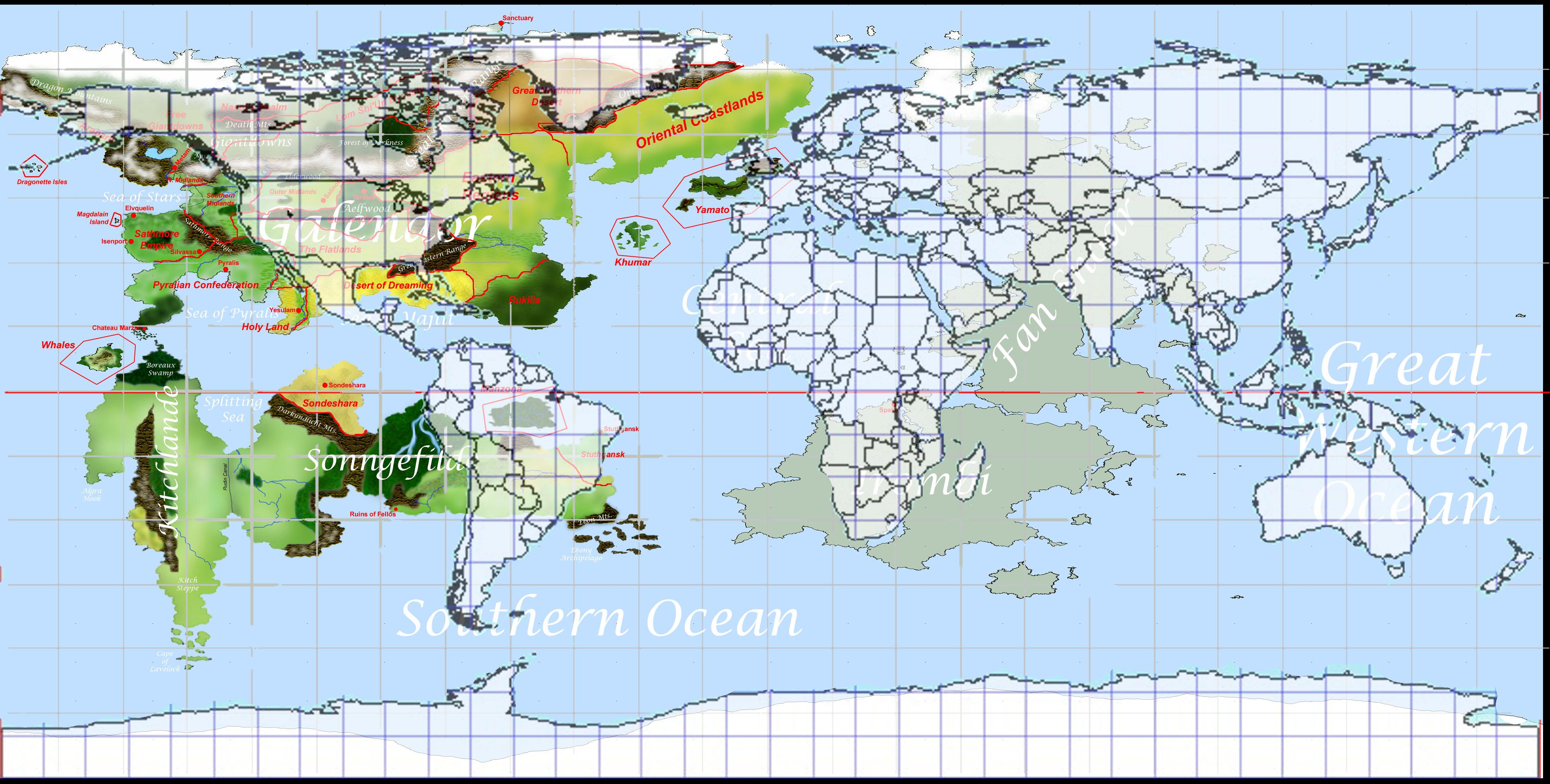 Latitude Earth Map  RAPX - World map with latitude and longitude hawaii